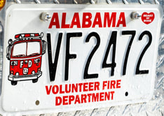 Volunteer Fire Department Car Tag